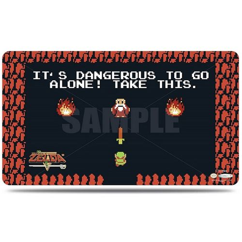 Ultra Pro Playmat Legend Of Zelda Dangerous to go Alone with Tube