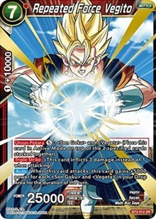 Repeated Force Vegito - BT2-012 - SR