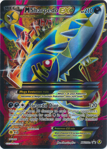 M Sharpedo EX (Alt Art) - XY200a - Premium Trainers XY Collection