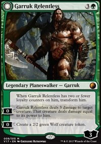 Garruk Relentless // Garruk, the Veil-Cursed - Foil