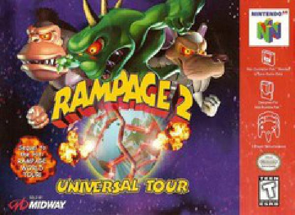 Rampage 2 Universal Tour Nintendo 64 Nintendo 64 Games Video