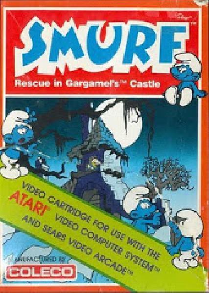 Smurf Rescue in Gargamel's Castle - Video Games » Atari