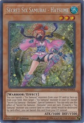 Secret Six Samurai - Hatsume - SPWA-EN003 - Secret Rare - 1st Edition