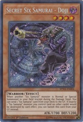 Secret Six Samurai - Doji - SPWA-EN004 - Secret Rare - 1st Edition