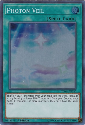 Photon Veil - SPWA-EN050 - Super Rare - 1st Edition