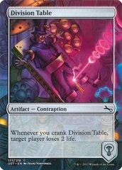 Division Table - Foil