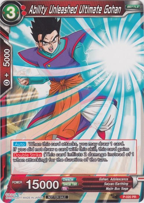 Ability Unleashed Ultimate Gohan (Non-Foil Version) - P-020 - PR