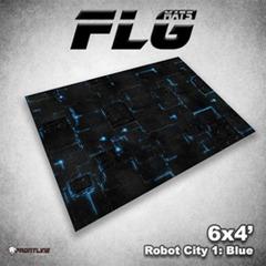 Flg Mats Robot City Blue 4X6