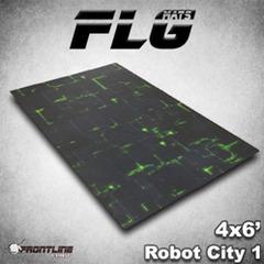 Flg Mats Robot City Green 4X6