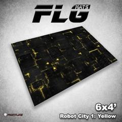 Flg Mats Robot City Yellow 4X6