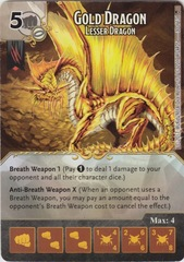 Gold Dragon - Lesser Dragon (Die and Card Combo)