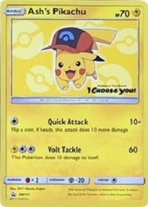 Ashs Pikachu - SM111 - SM Black Star Promo