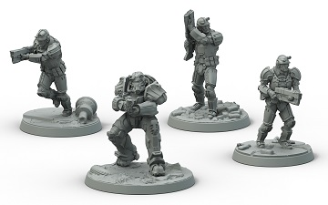 Fallout Brotherhood Of Steel Frontline Knights Set