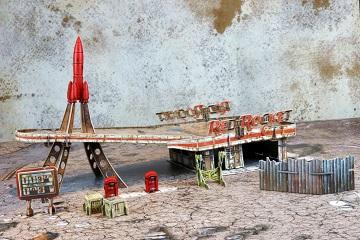 Fallout Wasteland Warfare: Red Rocket Scenic Set