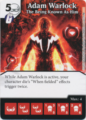 Adam Warlock - The Being Known As Him (Card and Die Combo) Foil