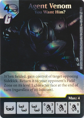 Agent Venom - You Want Him? (Card and Die Combo) Foil