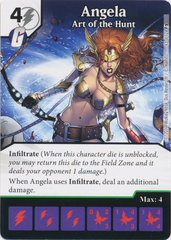 Angela - Art of the Hunt (Card and Die Combo) Foil