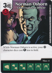 Norman Osborn - Chief Explosive Officer (Die and Card Combo)