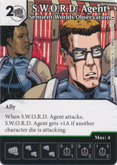S.W.O.R.D. Agent - Sentient Worlds Observation (Die and Card Combo)