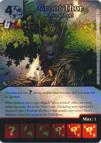 Groot Thor - I Am Thor! (Die and Card Combo)