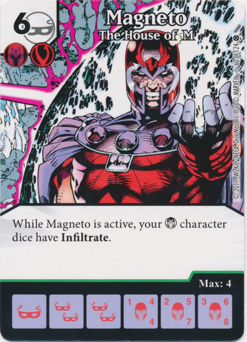 Magneto - The House of M (Card and Die Combo) Foil