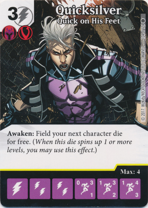 Quicksilver - Quick on His Feet (Die and Card Combo)