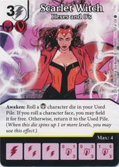 Scarlet Witch - Hexes and O's (Card and Die Combo) Foil
