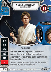 Luke Skywalker - Unlikely Hero  (Sold with Matching Pair of Dice)