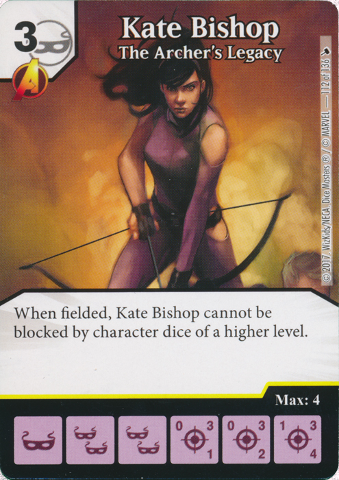 Kate Bishop - The Archers Legacy (Card and Die Combo) Foil