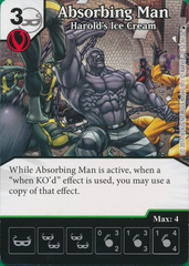 Absorbing Man - Harold's Ice Cream (Die and Card Combo)