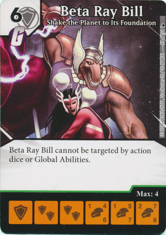 Beta Ray Bill - Shake the Planet to Its Foundation (Die and Card Combo)