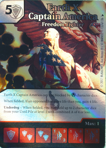 Earth X Captain America - Freedom Fighter (Die and Card