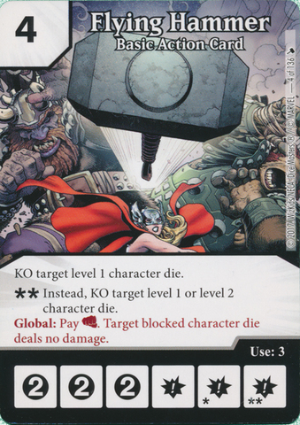 Flying Hammer - Basic Action Card (Die and Card Combo