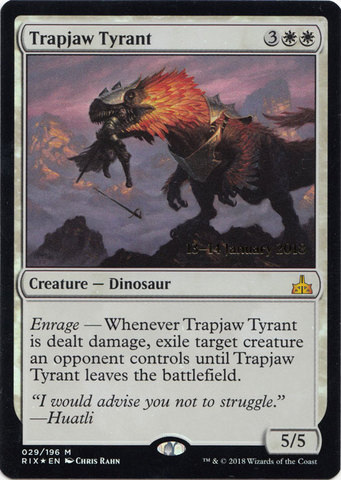 Trapjaw Tyrant - Foil - Prerelease Promo
