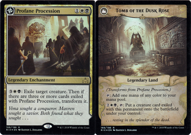 Profane Procession // Tomb of the Dusk Rose - Foil - Prerelease Promo
