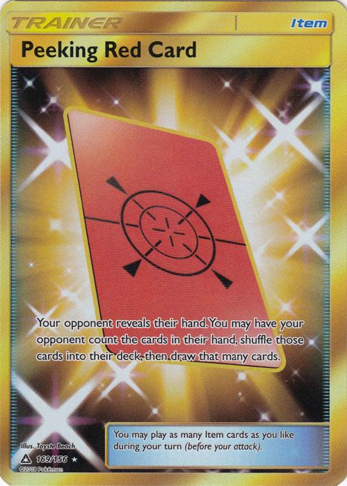 Peeking Red Card - 169/156 - Secret Rare