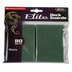 Bcw Deck Guard: Deck Protector Sleeve - Elite Matte Green (80Ct)