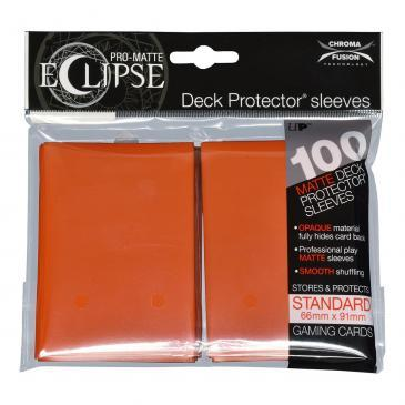 Ultra Pro - Pro Matte Eclipse: Deck Protector 100 Count Pack - Orange