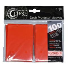 Ultra Pro - Pro Matte Eclipse: Deck Protector 100 Count Pack - Red Standard Sized
