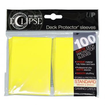 Ultra Pro - Pro Matte Eclipse: Deck Protector 100 Count Pack - Lemon Yellow