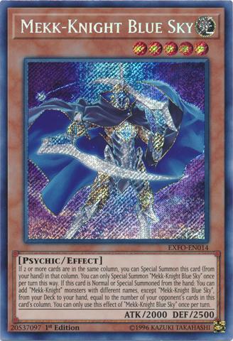 Mekk-Knight Blue Sky - EXFO-EN014 - Secret Rare - 1st Edition