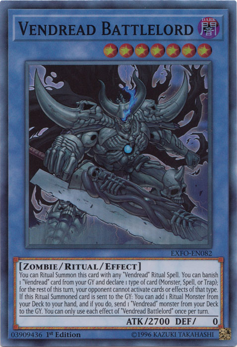 Vendread Battlelord - EXFO-EN082 - Super Rare - 1st Edition