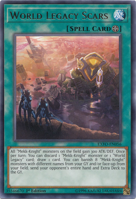 World Legacy Scars - EXFO-EN056 - Rare - 1st Edition