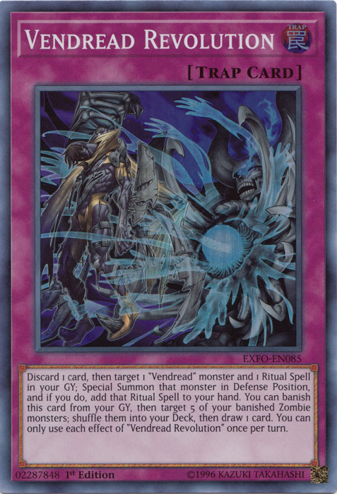 Vendread Revolution - EXFO-EN085 - Super Rare - 1st Edition