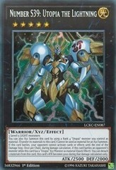 Number S39: Utopia the Lightning - LCKC-EN087 - Secret Rare - 1st Edition