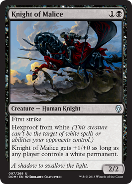 Knight of Malice - Foil