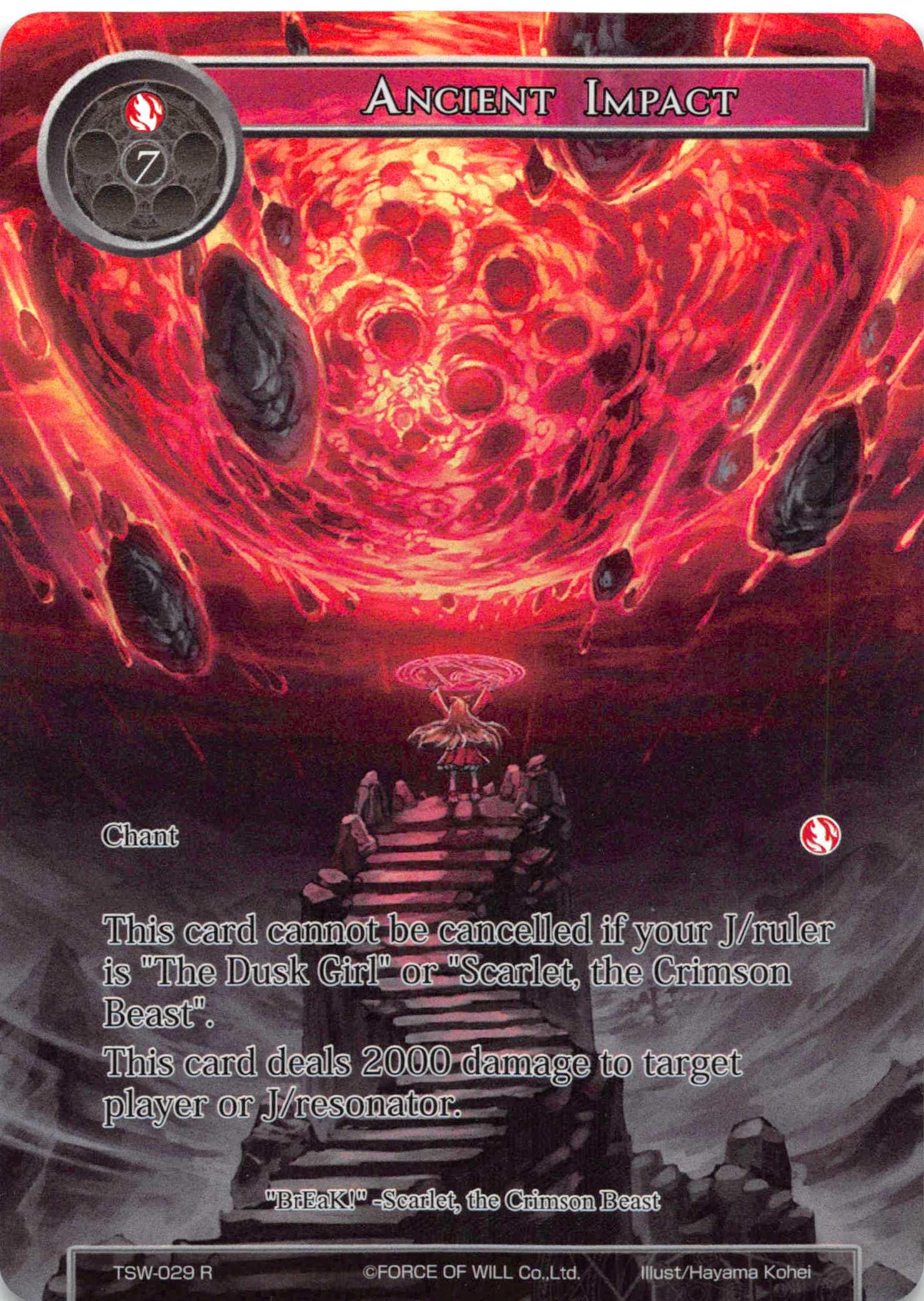 Ancient Impact (Full Art) - TSW-029 - R