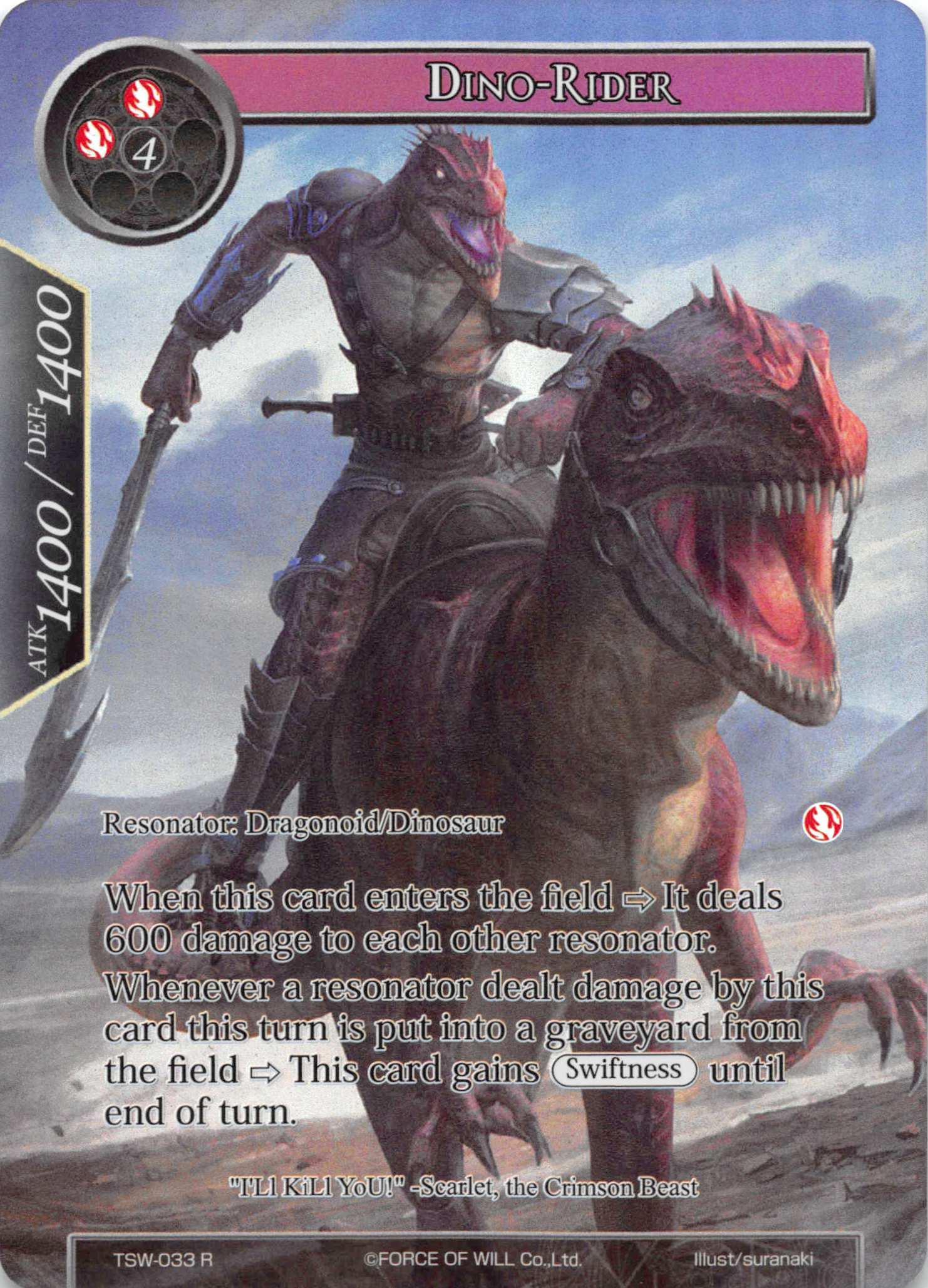 Dino-Rider (Full Art) - TSW-033 - R