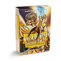 Dragon Shield - Matte Gold 60 Count Japanese size Sleeves