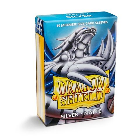 Dragon Shield Sleeves: Japanese Matte Silver (Box Of 60)